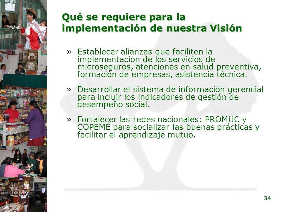 Qué se requiere para la implementación de nuestra Visión