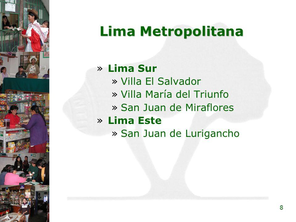 Lima Metropolitana Lima Sur Villa El Salvador Villa María del Triunfo