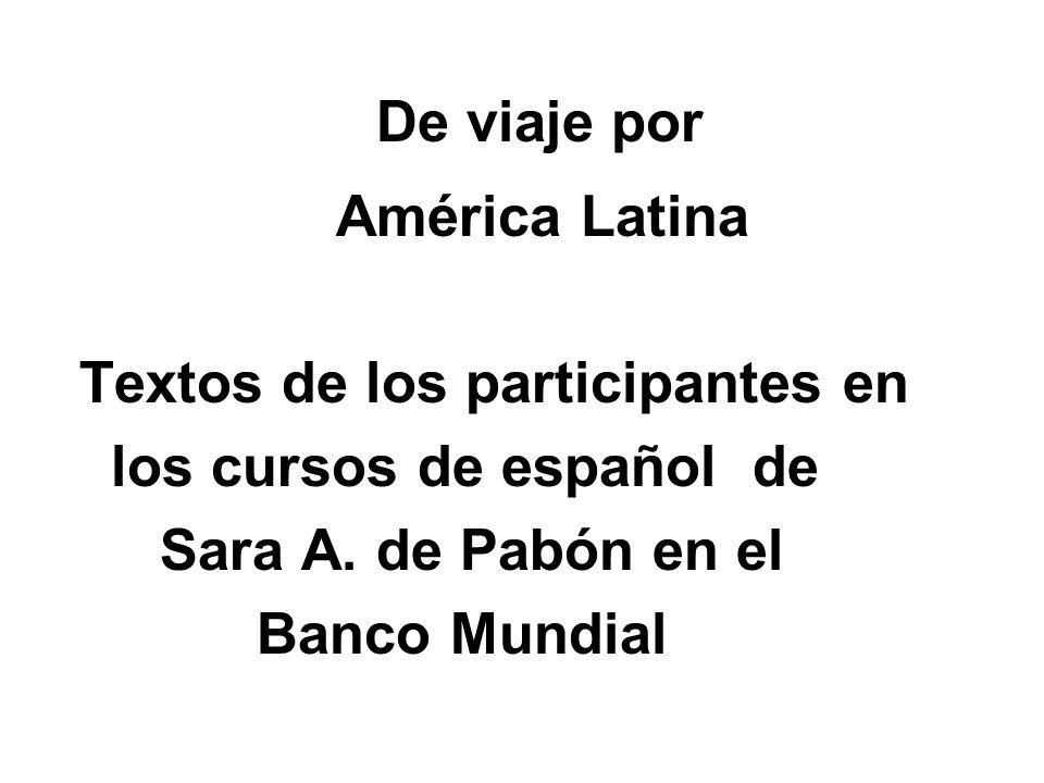 Textos de los participantes en los cursos de español de