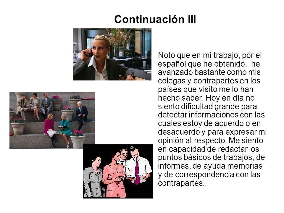 Continuación III