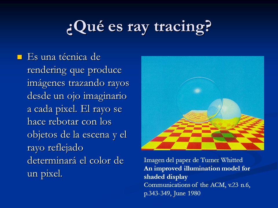 ¿Qué es ray tracing
