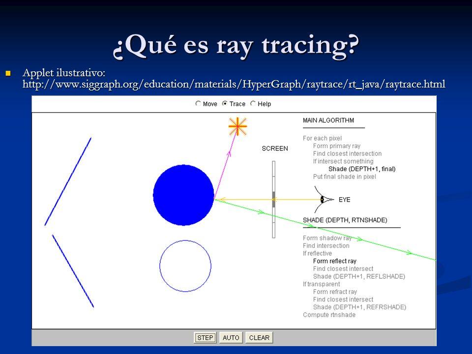 ¿Qué es ray tracing.