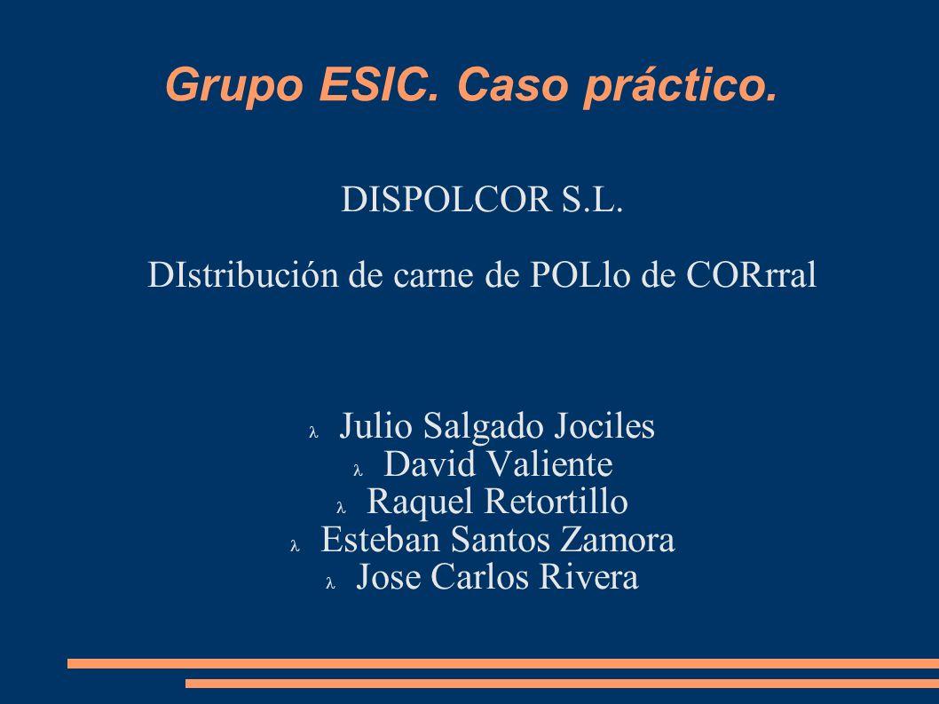 Grupo ESIC. Caso práctico.