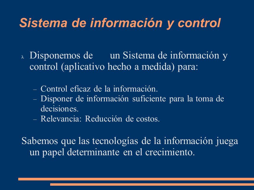 Sistema de información y control