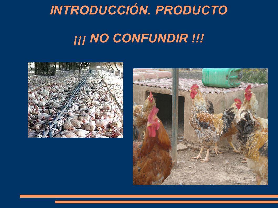 INTRODUCCIÓN. PRODUCTO ¡¡¡ NO CONFUNDIR !!!