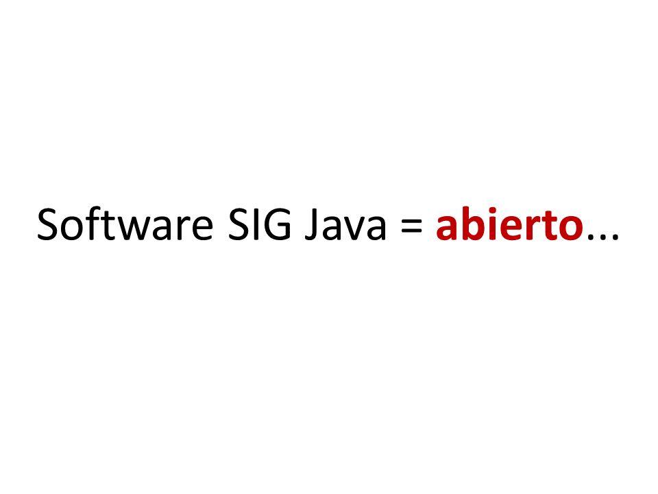 Software SIG Java = abierto...
