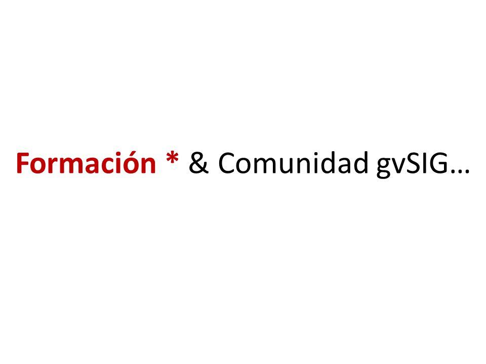 Formación * & Comunidad gvSIG…