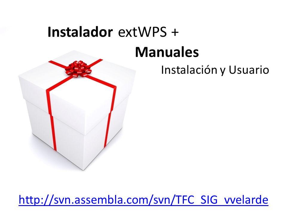 Instalador extWPS + Manuales Instalación y Usuario