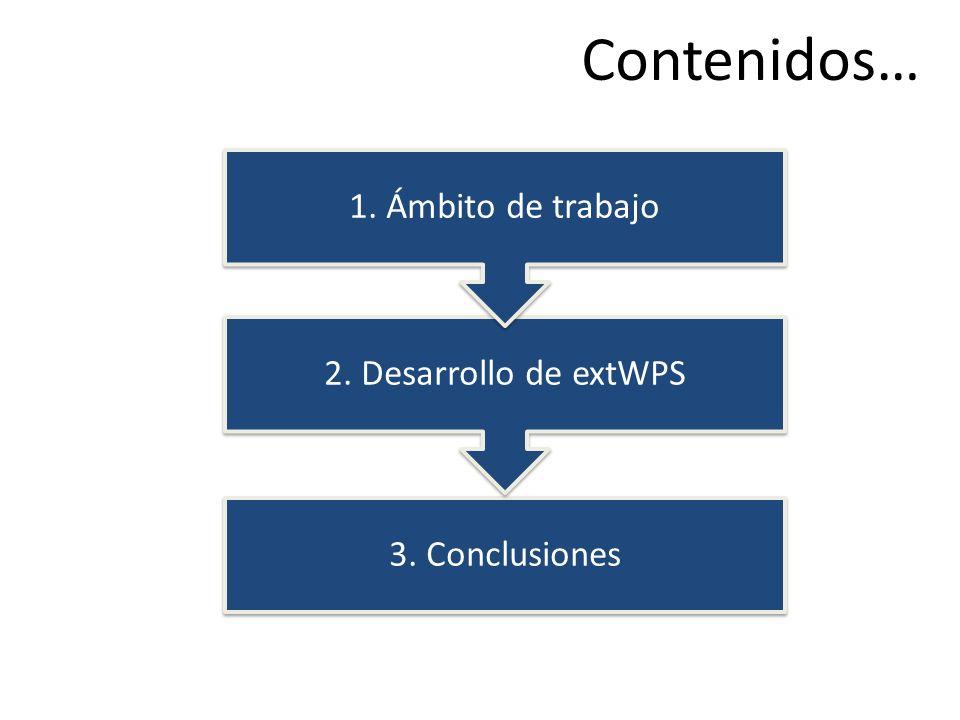 Contenidos… 2. Desarrollo de extWPS 1. Ámbito de trabajo