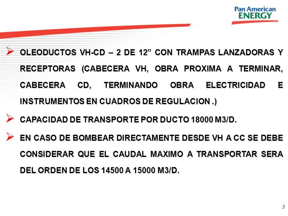 OLEODUCTOS VH-CD – 2 DE 12 CON TRAMPAS LANZADORAS Y RECEPTORAS (CABECERA VH, OBRA PROXIMA A TERMINAR, CABECERA CD, TERMINANDO OBRA ELECTRICIDAD E INSTRUMENTOS EN CUADROS DE REGULACION .)
