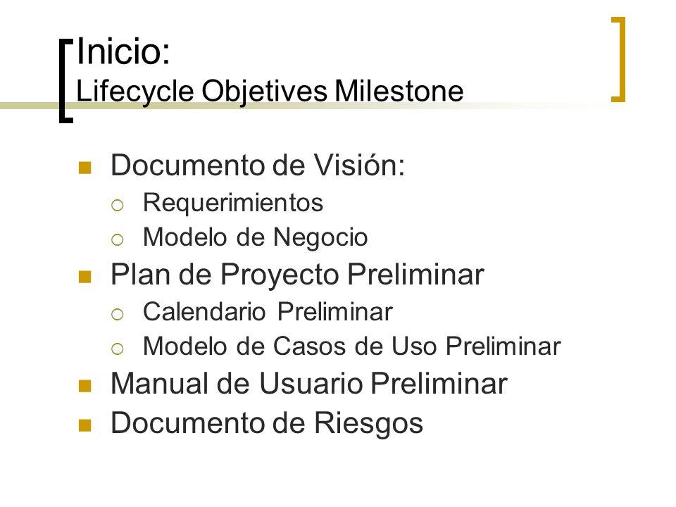 Inicio: Lifecycle Objetives Milestone