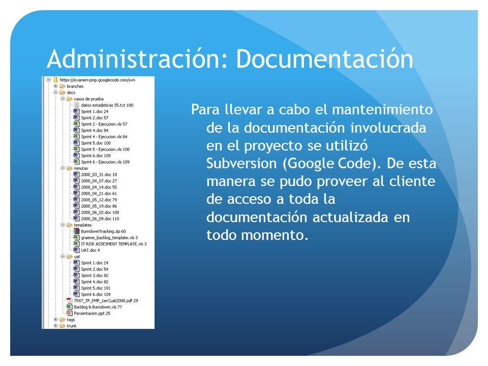Administración: Documentación
