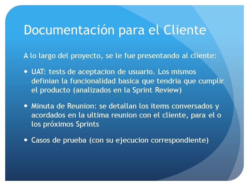 Documentación para el Cliente