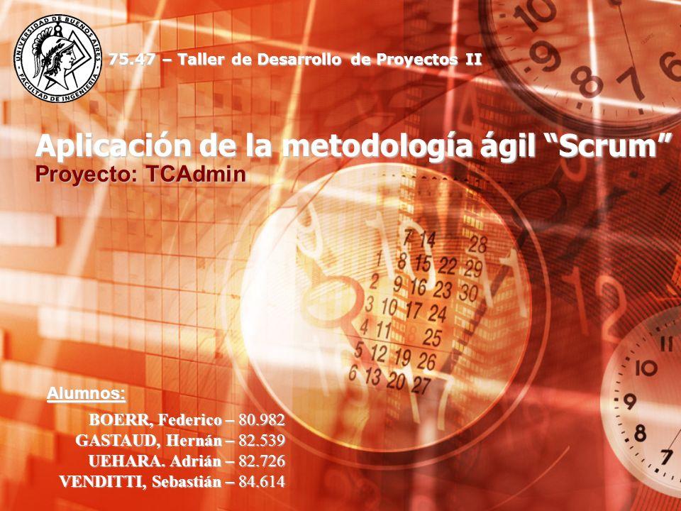 Aplicación de la metodología ágil Scrum