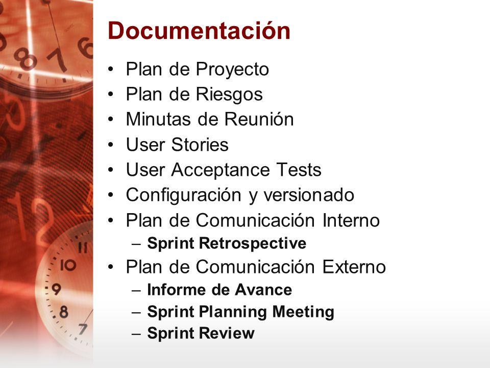 Documentación Plan de Proyecto Plan de Riesgos Minutas de Reunión