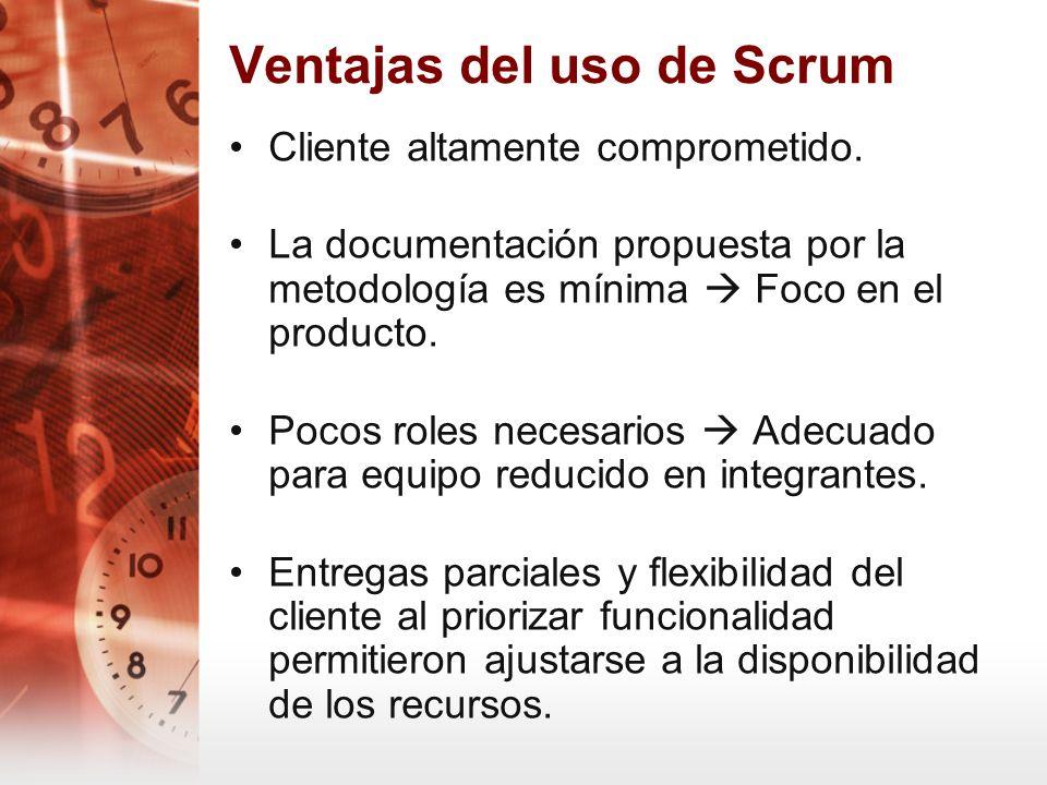 Ventajas del uso de Scrum