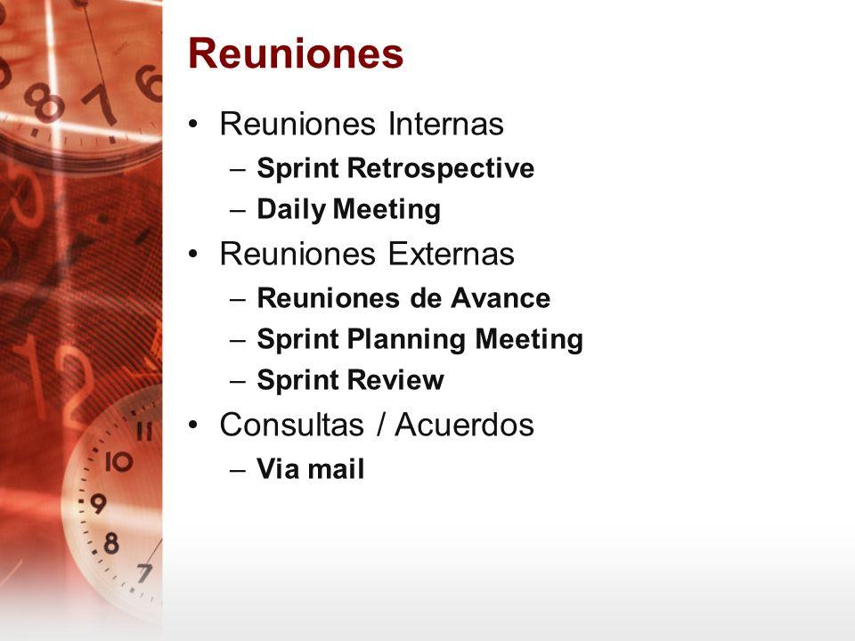 Reuniones Reuniones Internas Reuniones Externas Consultas / Acuerdos