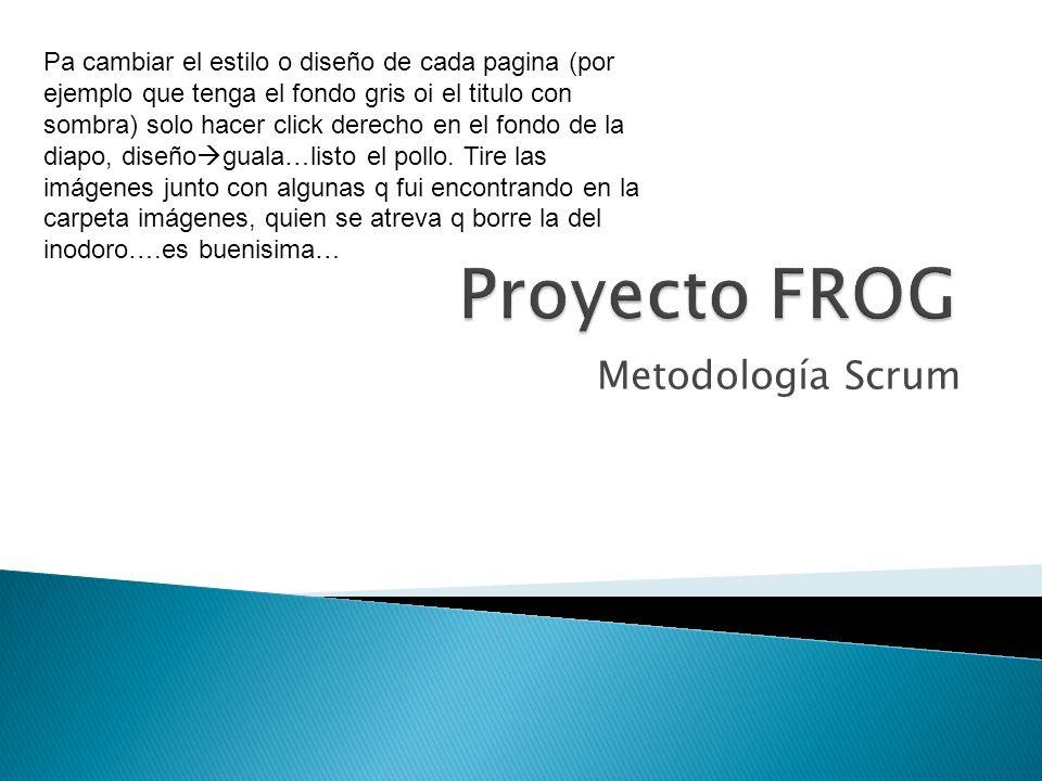 Proyecto FROG Metodología Scrum
