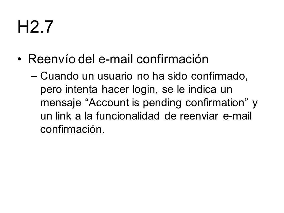 H2.7 Reenvío del e-mail confirmación