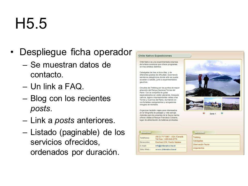H5.5 Despliegue ficha operador Se muestran datos de contacto.