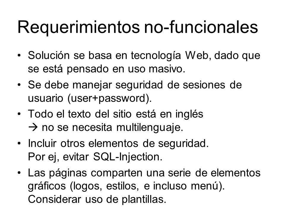 Requerimientos no-funcionales