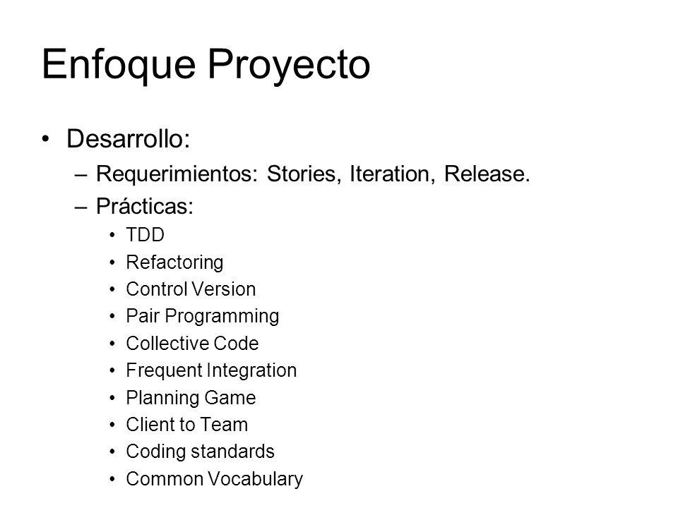 Enfoque Proyecto Desarrollo: