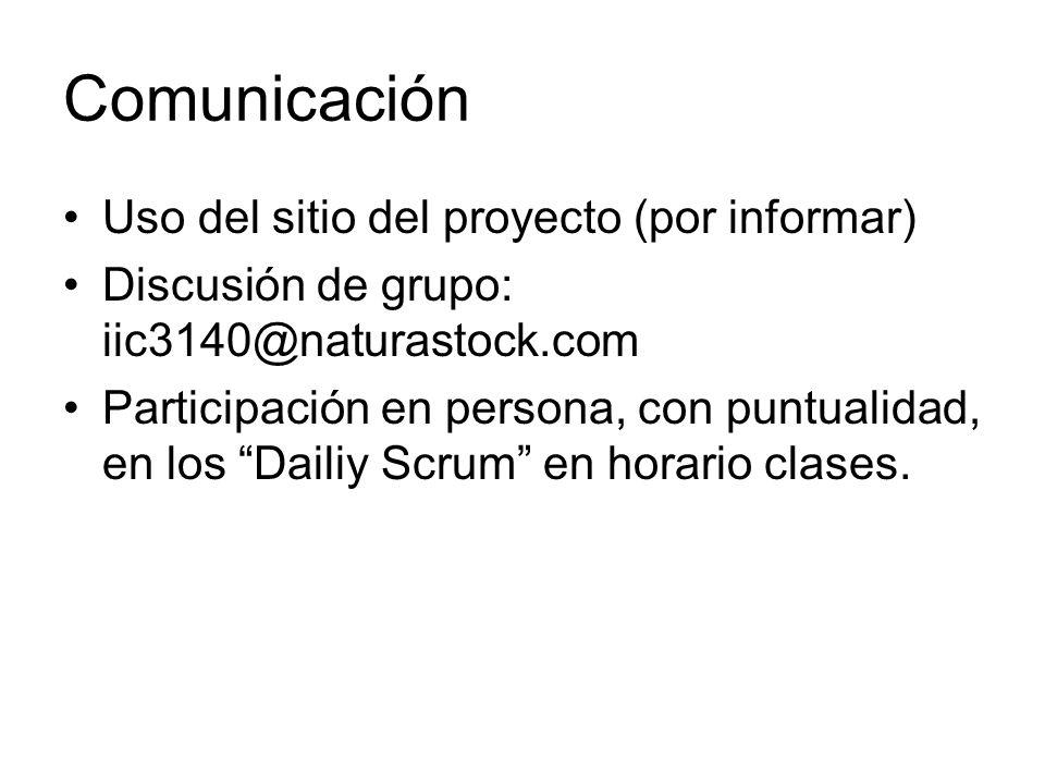 Comunicación Uso del sitio del proyecto (por informar)