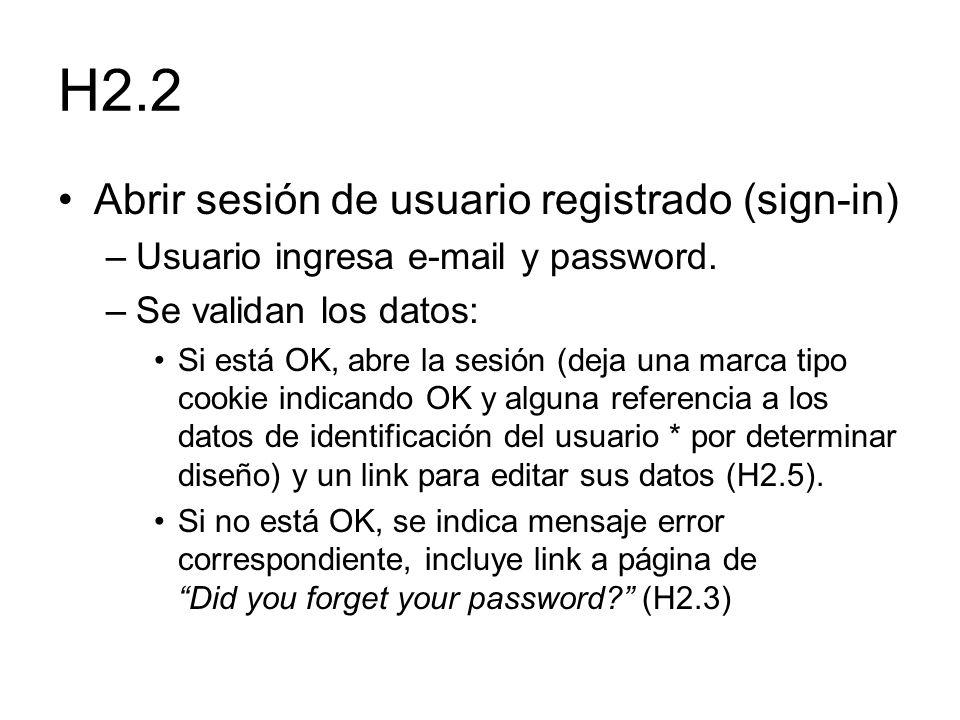 H2.2 Abrir sesión de usuario registrado (sign-in)