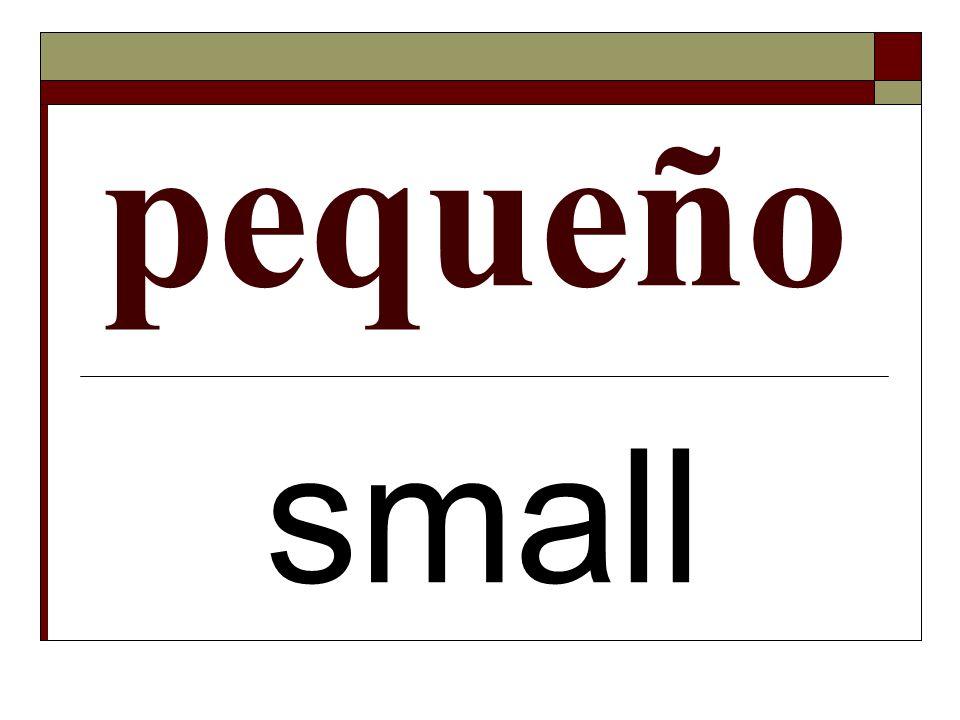 pequeño small