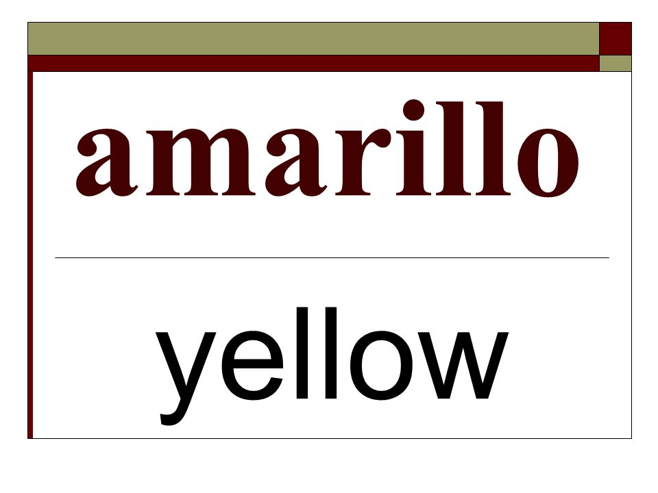 amarillo yellow