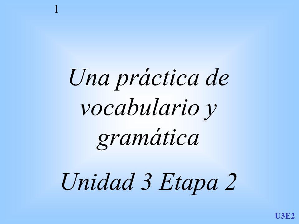 Una práctica de vocabulario y gramática