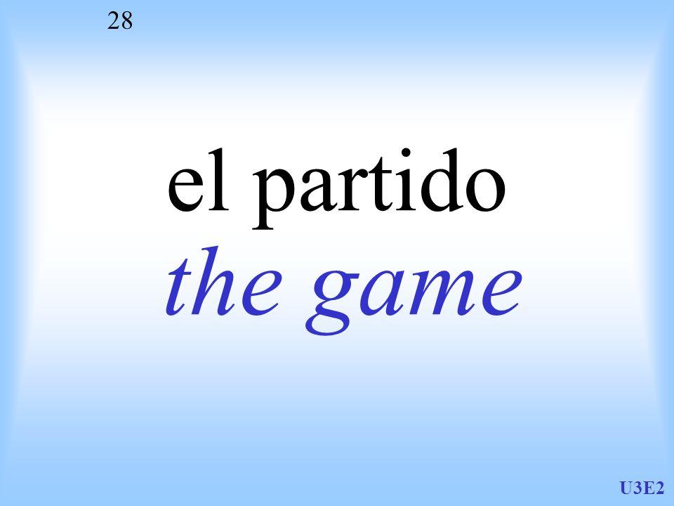 el partido the game U3E2