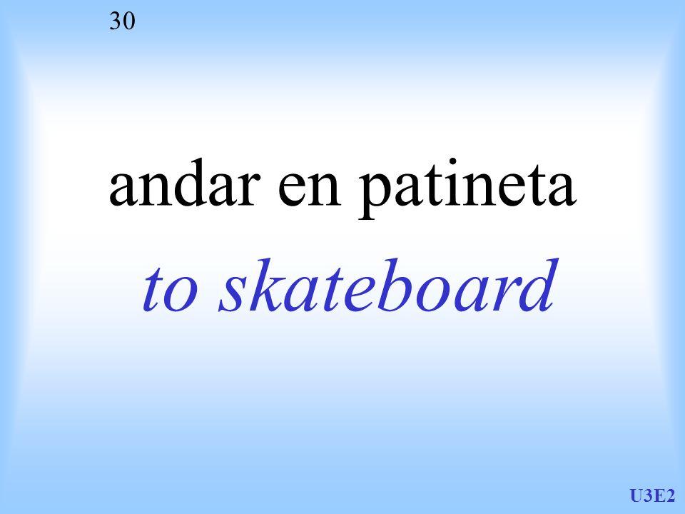 andar en patineta to skateboard U3E2
