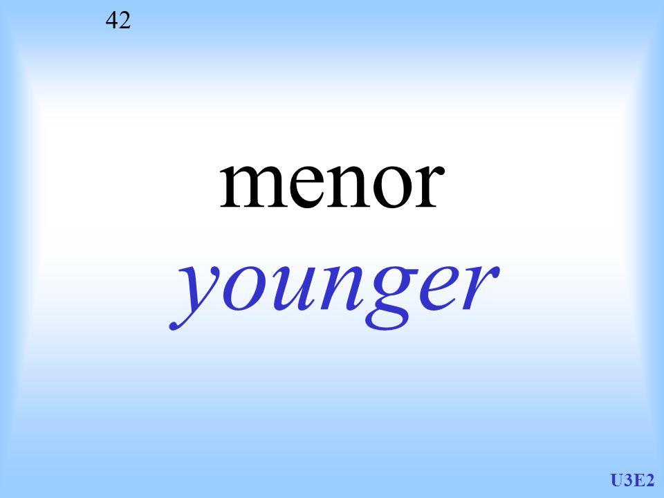 menor younger U3E2