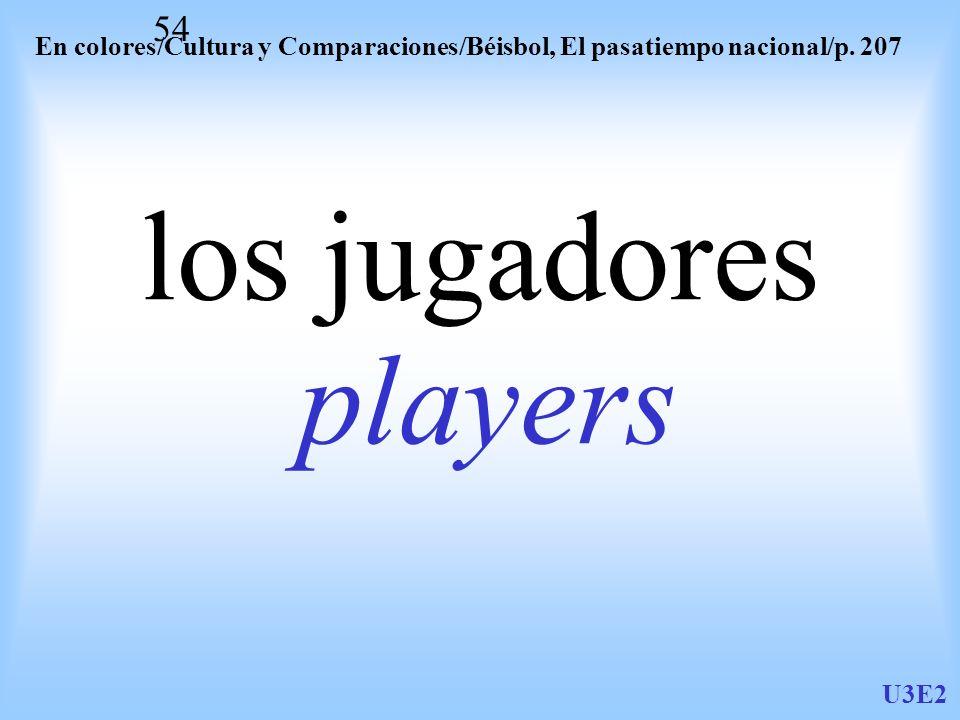 En colores/Cultura y Comparaciones/Béisbol, El pasatiempo nacional/p