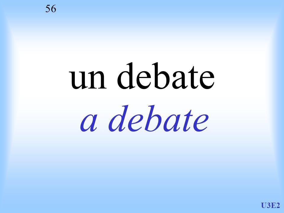 un debate a debate U3E2
