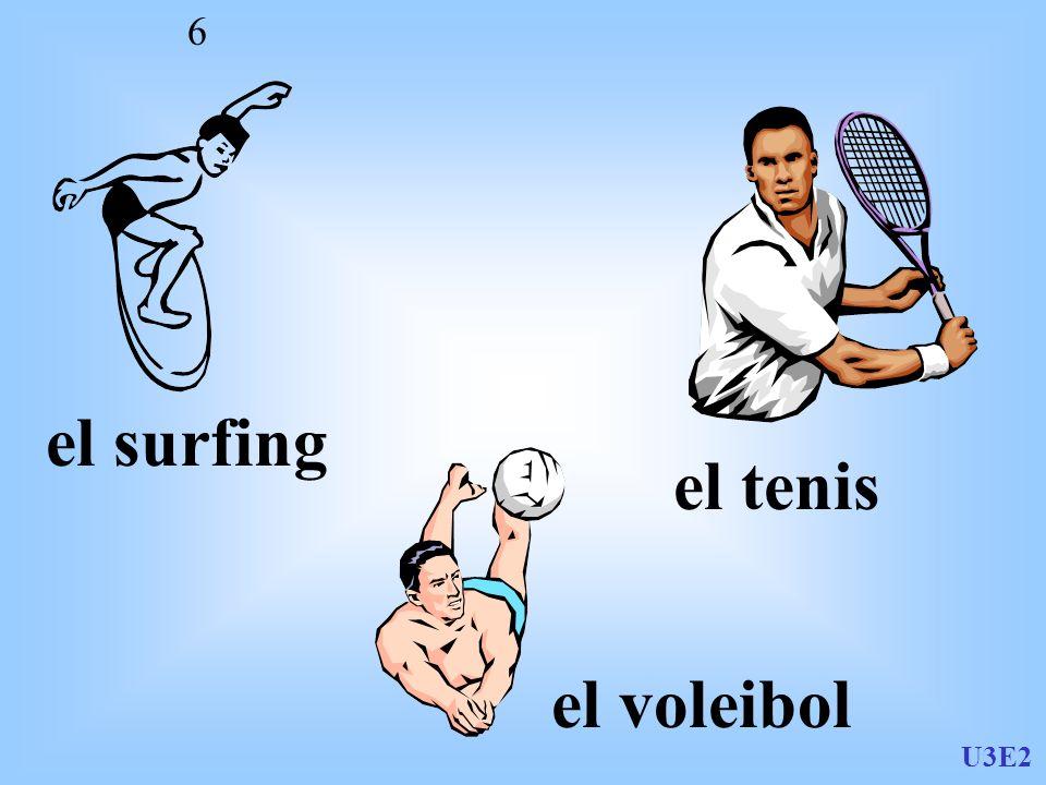 el surfing el tenis el voleibol U3E2