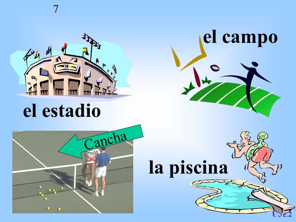 el campo el estadio Cancha la piscina U3E2