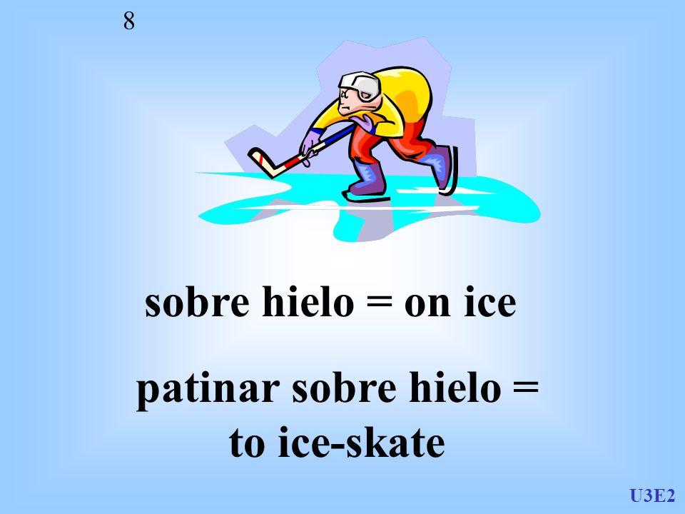 patinar sobre hielo = to ice-skate