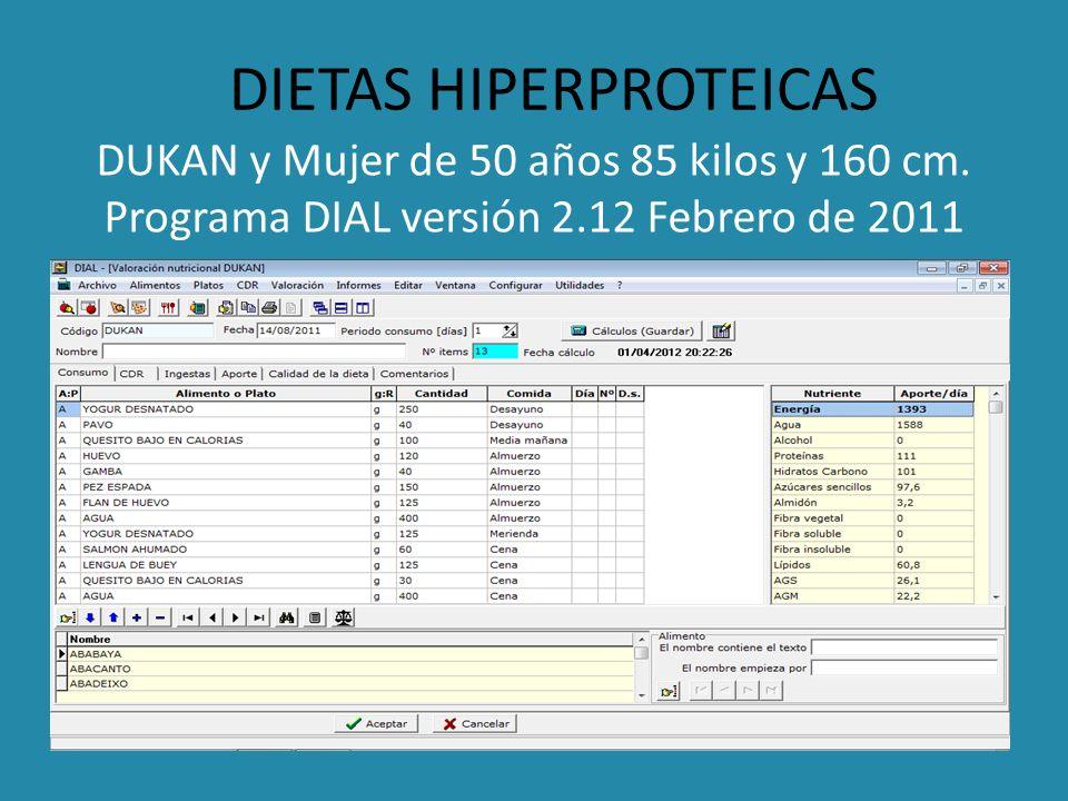 DIETAS HIPERPROTEICAS