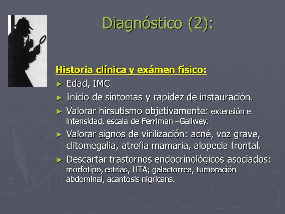 Diagnóstico (2): Historia clínica y exámen físico: Edad, IMC