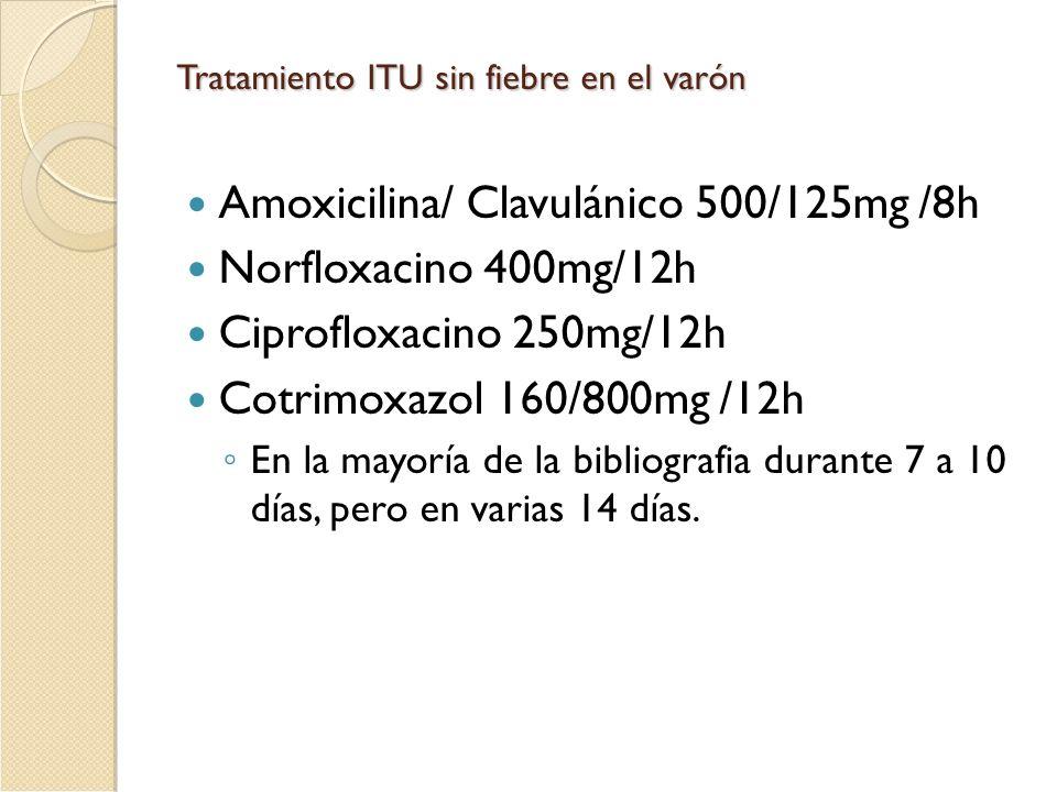 Amoxicilina/ Clavulánico 500/125mg /8h Norfloxacino 400mg/12h