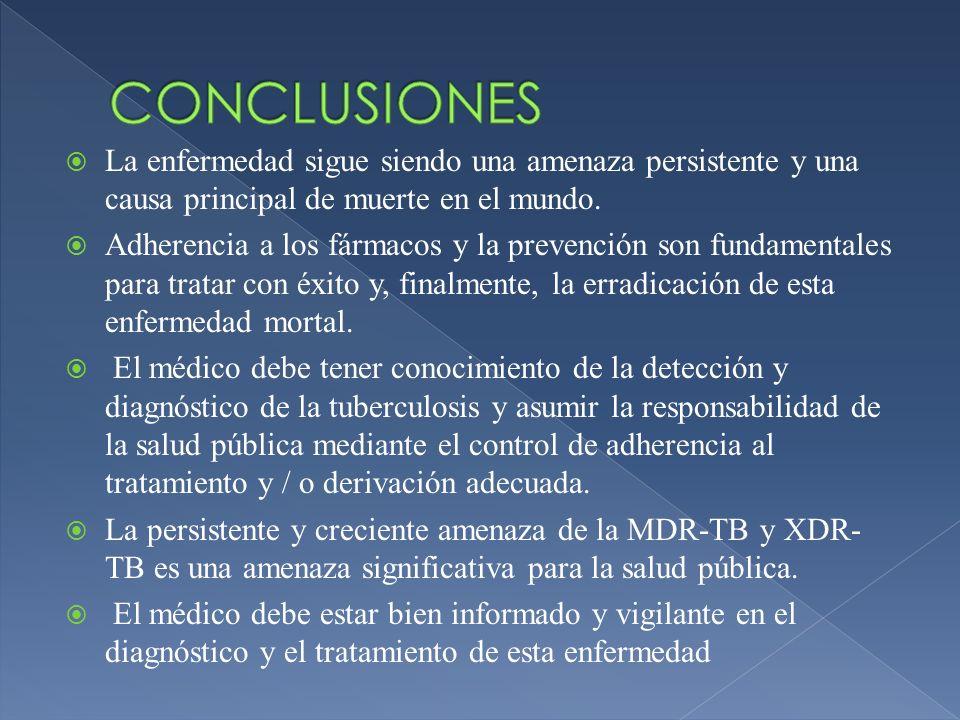 CONCLUSIONES La enfermedad sigue siendo una amenaza persistente y una causa principal de muerte en el mundo.