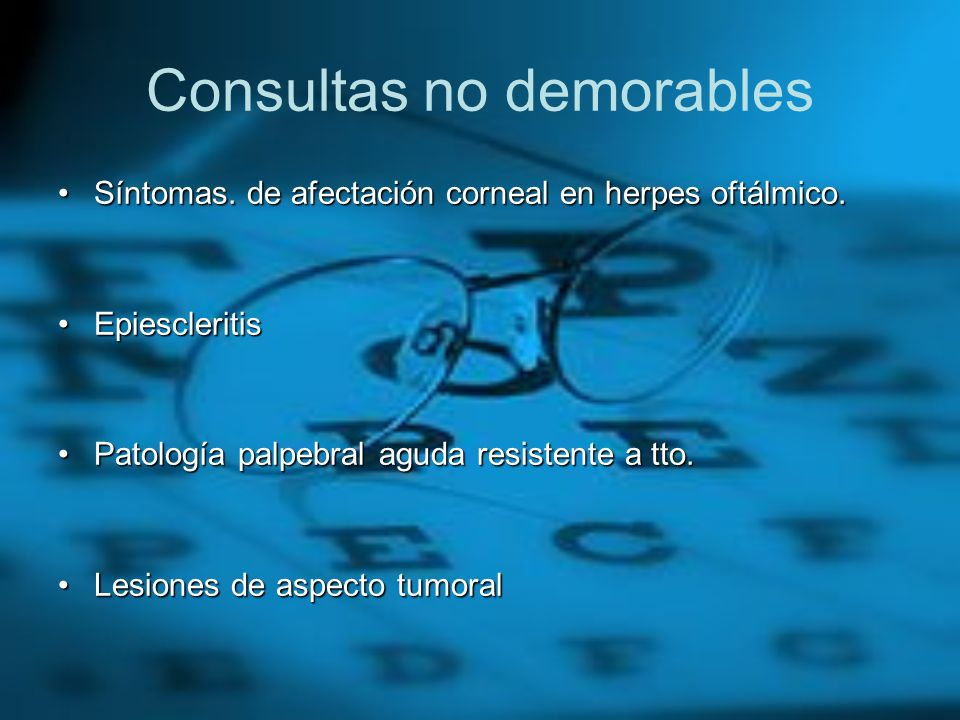 Consultas no demorables