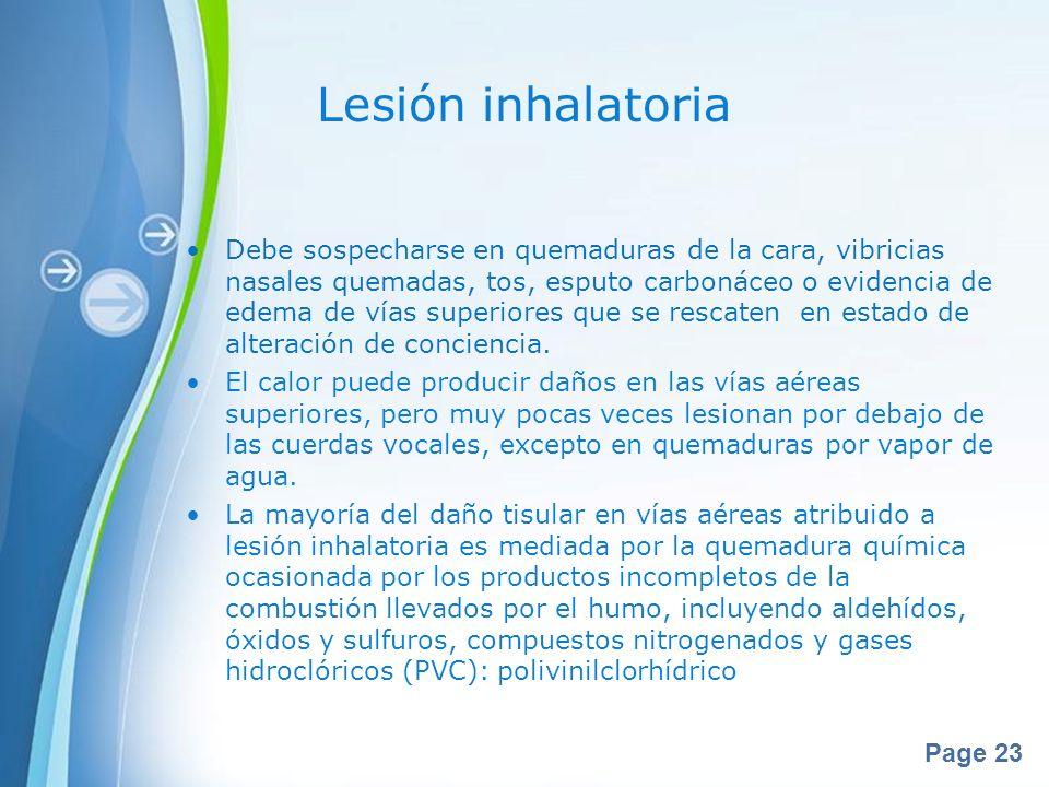 Lesión inhalatoria