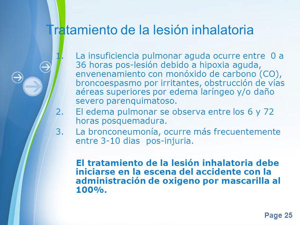 Tratamiento de la lesión inhalatoria