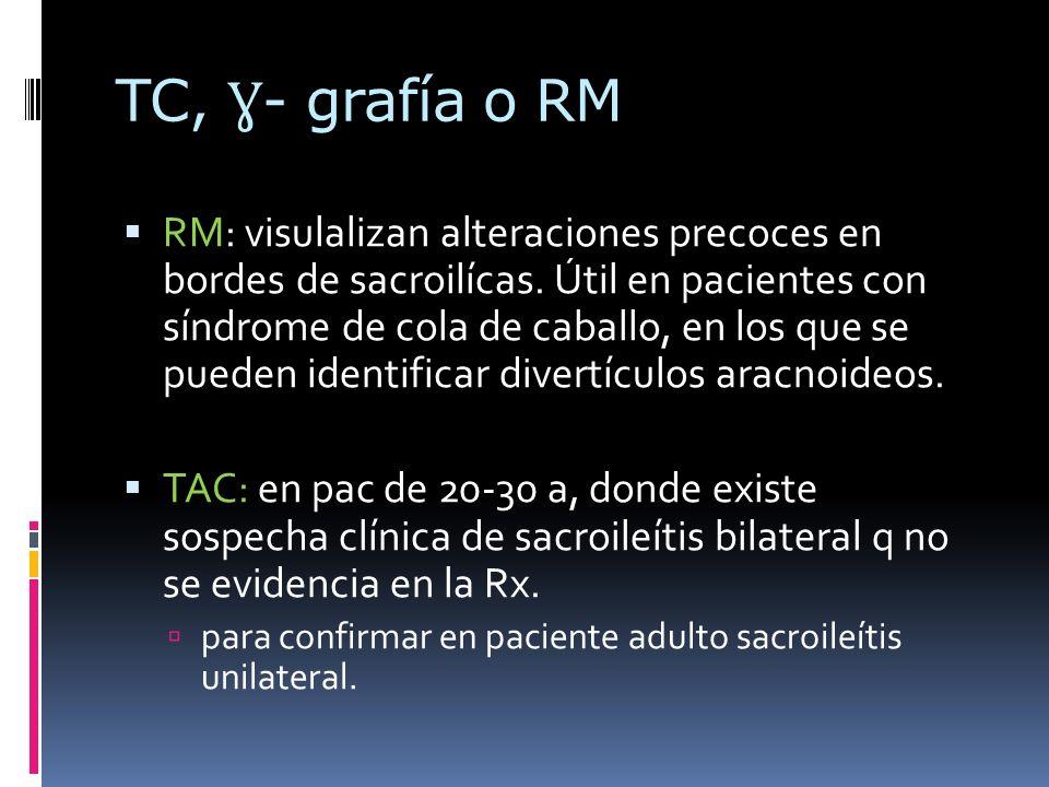 TC, Ɣ- grafía o RM