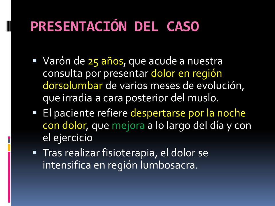 PRESENTACIÓN DEL CASO