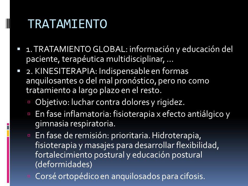 TRATAMIENTO 1. TRATAMIENTO GLOBAL: información y educación del paciente, terapéutica multidisciplinar, …