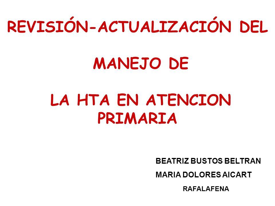 REVISIÓN-ACTUALIZACIÓN DEL MANEJO DE LA HTA EN ATENCION PRIMARIA